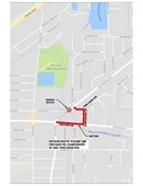 detour map for bridge closing
