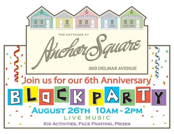 Anchor Square Block Party event flyer