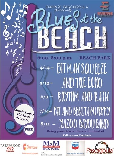 EMERGE's Blues at the Beach Flyer