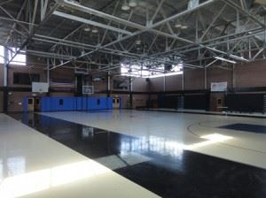 Pascagoula Recreation Center, view of interior basketball court