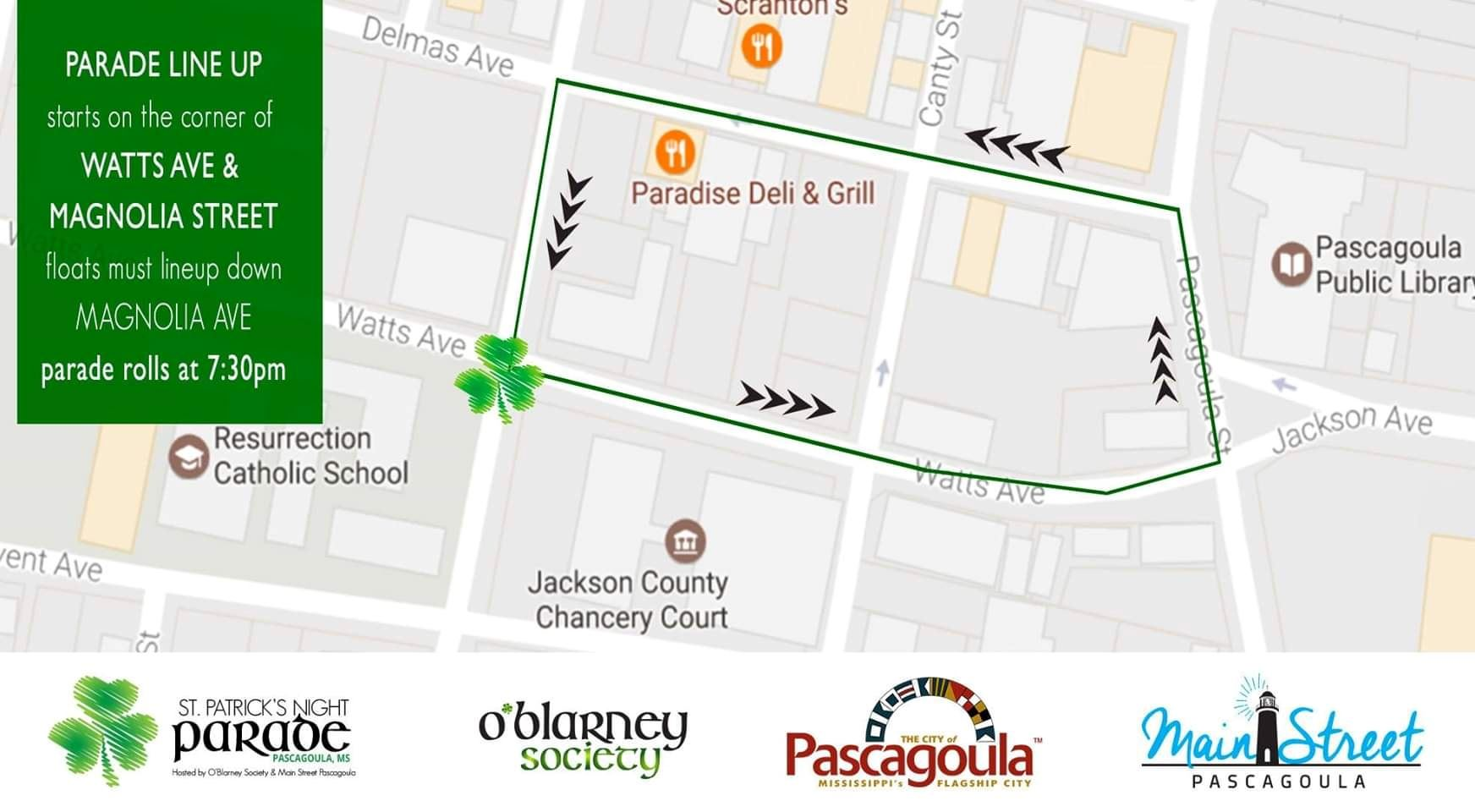 St. Patty Parade Route