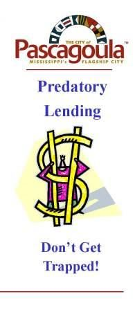 Text: Predatory Lending, Don't get Trapped