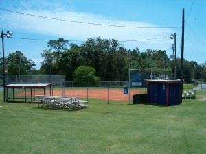12th Street Girls Softball Complex, with dugout, field, bleachers, and fencing