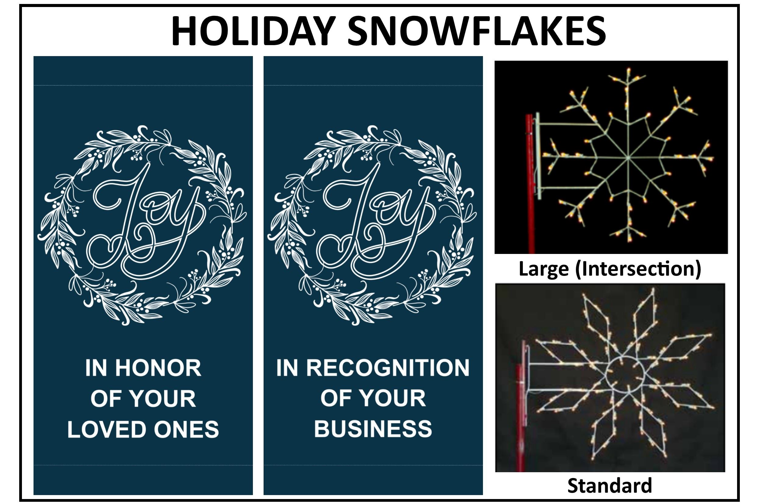 Holiday Snowflakes Graphics