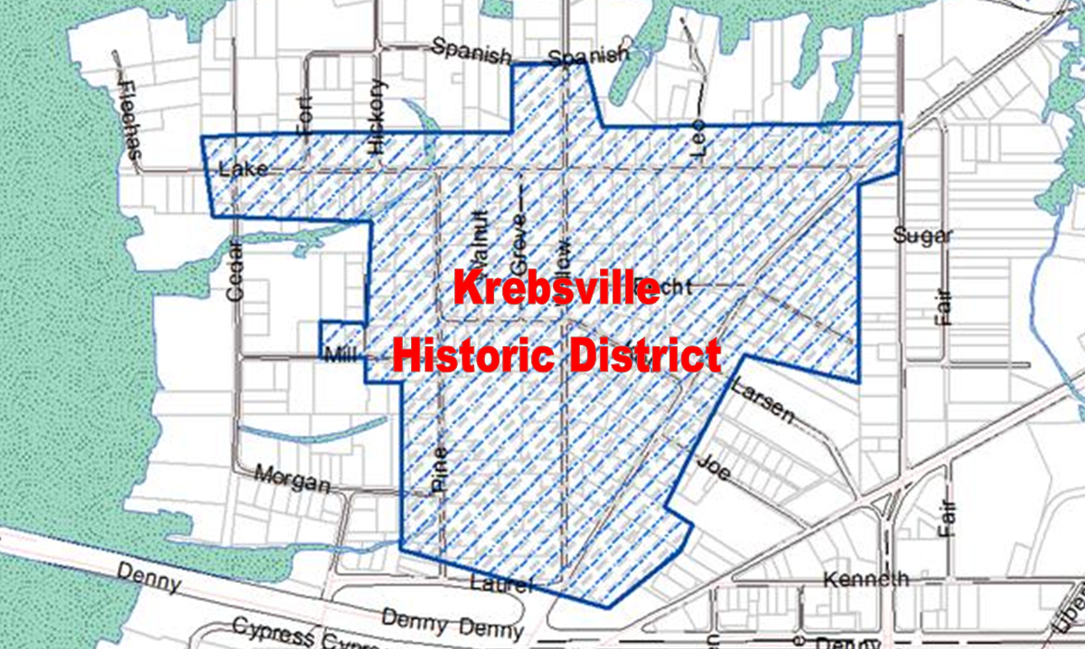 Map of Krebsville Historic District